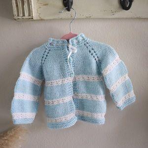 Vintage handmade newborn cardigan